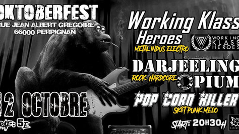 12/10/19 - Live, Darjeeling Opium (Fatcat records) au Oktoberfest, Perpignan(66).