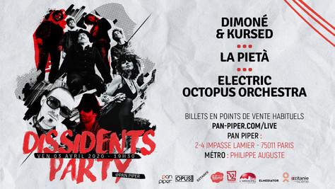 03/04/20 - Live, Electric Octopus Orchestra (Fatcat records), Pan-Piper, Paris(75).
