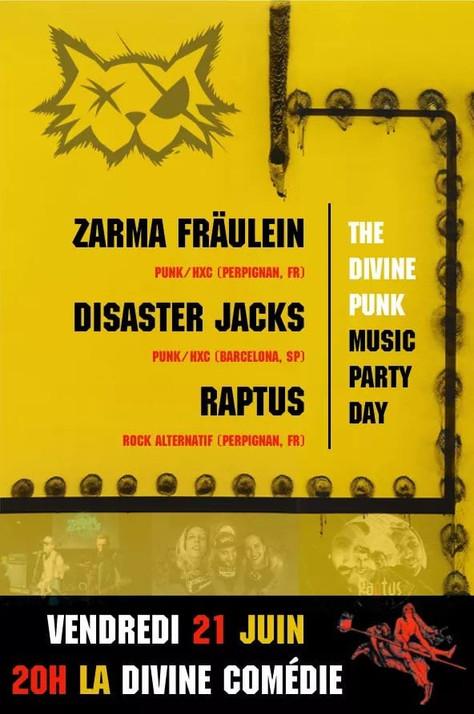 21/06/19, Live Zarma Fräulein - Raptus (Fatcat records) at The Divine Punk Music Party Day, Perpigna