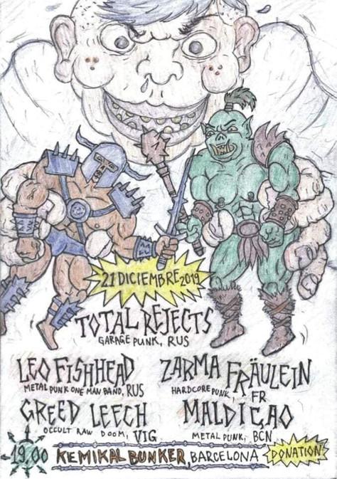 21/12/19, Live Zarma Fräulein (Fatcat records) en Acoustique au Kemikal Bunker, Barcelone(SP).