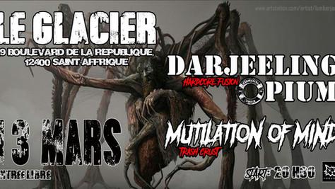 13/03/20 - Live, Darjeeling Opium (Fatcat records) à Le Glacier,  St Affrique (12).