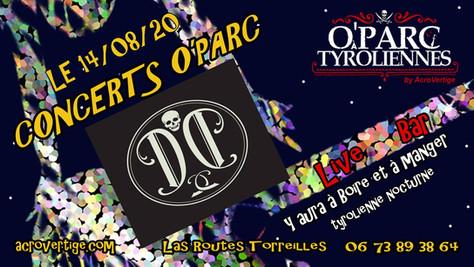 14/08/20 Live Dusty Duke (Fatcat records) au O'Parc à tyroliennes, Torreilles(66).