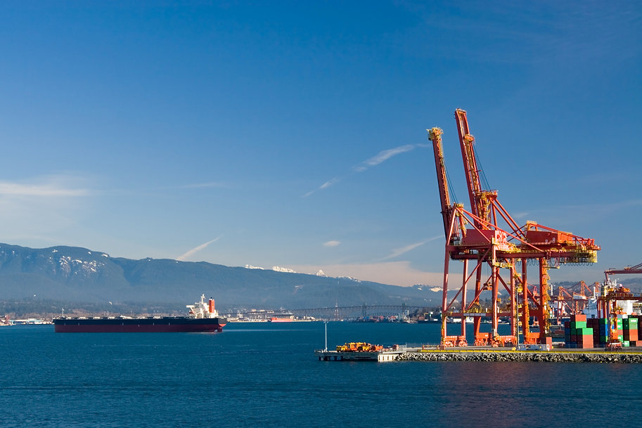 Port of Vancouver. Container terminal..j