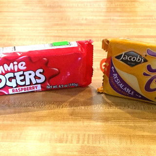 Jammie Dodgers and Jaffa Cake biscuits