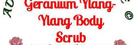 Geranium ylang ylang body scrub - 4 oz $5 or 8 oz $8