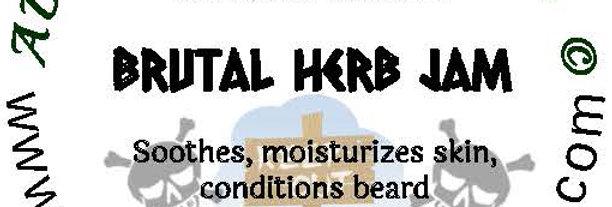 Brutal Herb Jam beard oil 1 oz $6; 2 oz $10; balm 1 oz $6