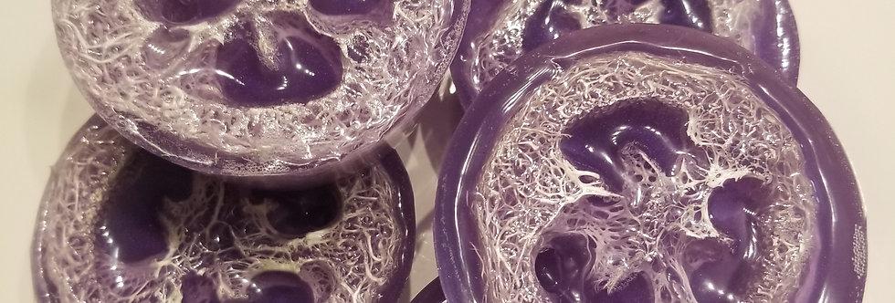 Loofah fragrant soap bar