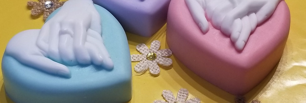 Fragrant Wedding heart soap bar