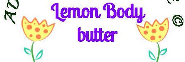 Ylang-ylang lemon body butter;  4 oz $8 or 8 oz $15
