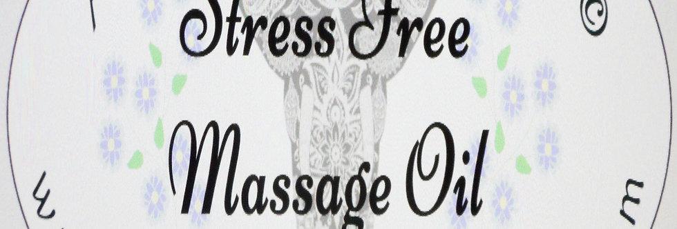 Stress free massage oil; 2 oz $6 or 4 oz $10