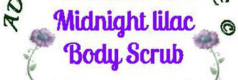 Midnight Lilac body scrub - 4 oz $5 or 8 oz $8