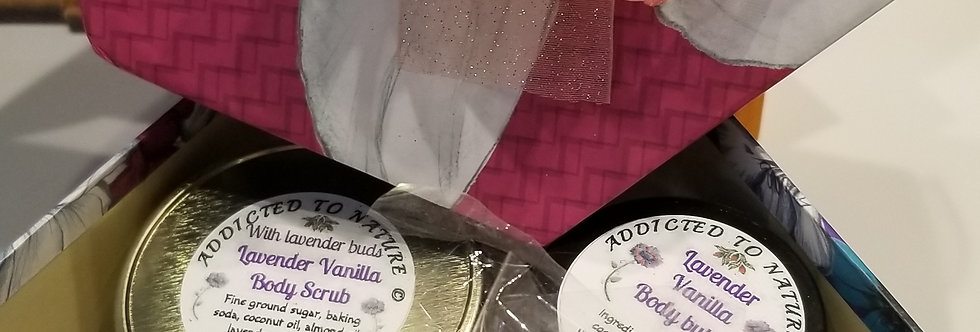 Personalized spa gift set with body butter