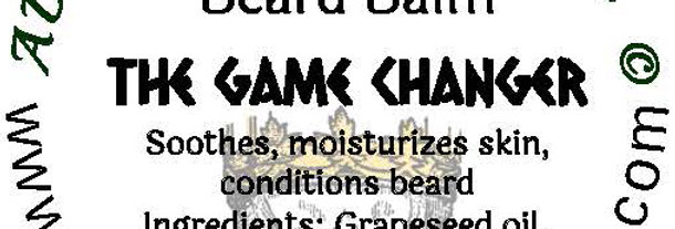 The Game Changer beard oil 1 oz $6; 2 oz $10; balm 1 oz $6