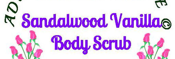 Sandalwood Vanilla body scrub - 4 oz $5 or 8 oz $8