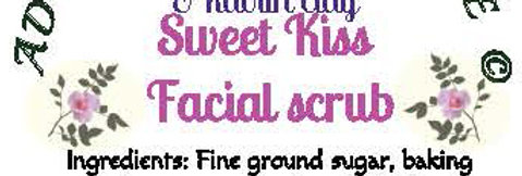 Sweet kiss facial scrub