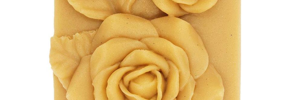 Rose flower soap bar