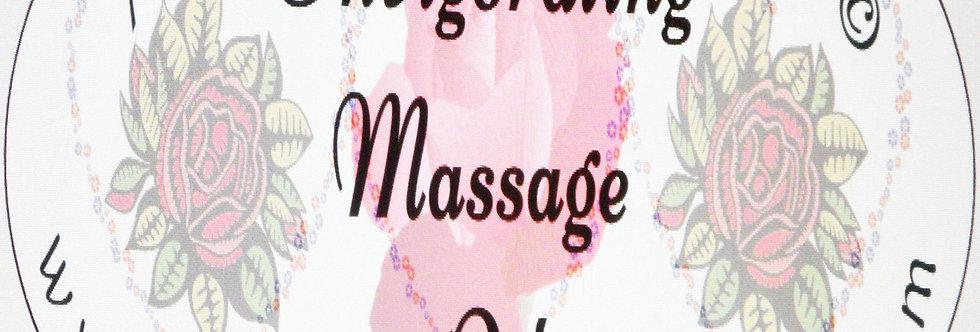 Invigorating massage oil; 2 oz $6 or 4 oz $10