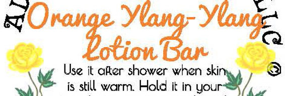 Orange Ylang Ylang lotion bar
