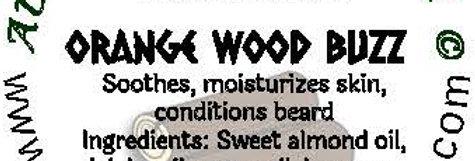 Orange Wood Buzz beard oil 1 oz $6; 2 oz $10; balm 1 oz $6