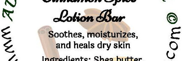 Cinnamon spice lotion bar