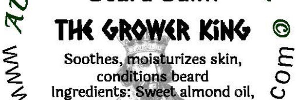 The Grower King beard oil 1 oz $6; 2 oz $10; balm 1 oz $6