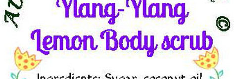 Ylang ylang lemon body scrub - 4 oz $5 or 8 oz $8
