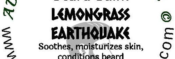 Lemongrass Earthquake beard oil 1 oz $6; 2 oz $10; balm 1 oz $6