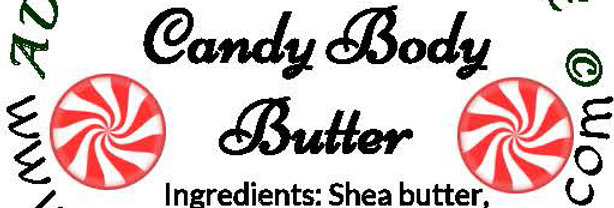 Peppermint candy body butter; 2 oz $6 or 4 oz $10