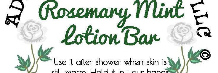 Rosemary mint lotion bar