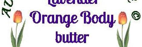 Lavender orange body butter; 4 oz $8 or 8 oz $15