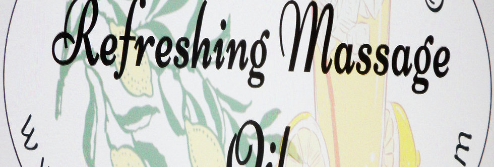 Refreshing massage oil; 2 oz  $6 or 4 oz $10