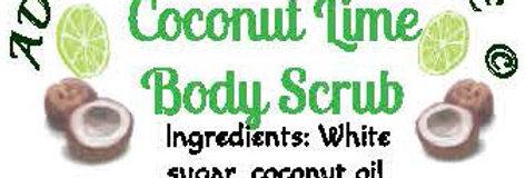 Coconut lime body scrub - 4 oz $5 or 8 oz $8