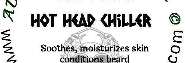 The Hot Head Chiller beard oil 1 oz $6; 2 oz $ 10; balm 1 oz $6