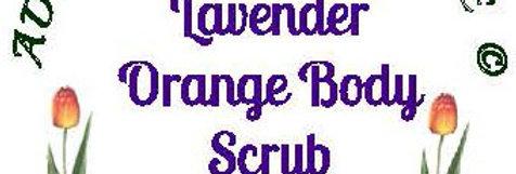 Lavender orange body scrub - 4 oz $5 or 8 oz $8