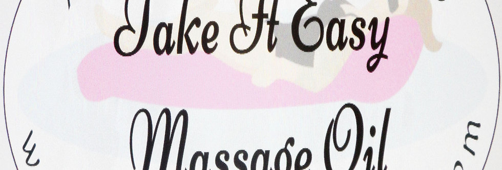 Take it easy massage oil; 2 oz $6 or 4 oz $10