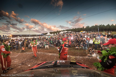 Toyota Gazoo Racing SA rally podium