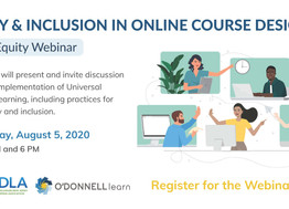 What to Expect: O'Donnell Learn & PADLA Present Equity and Inclusion in Online Course Design
