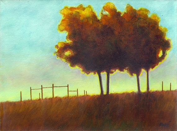 """Sundown"" oil on canvas 6x8"