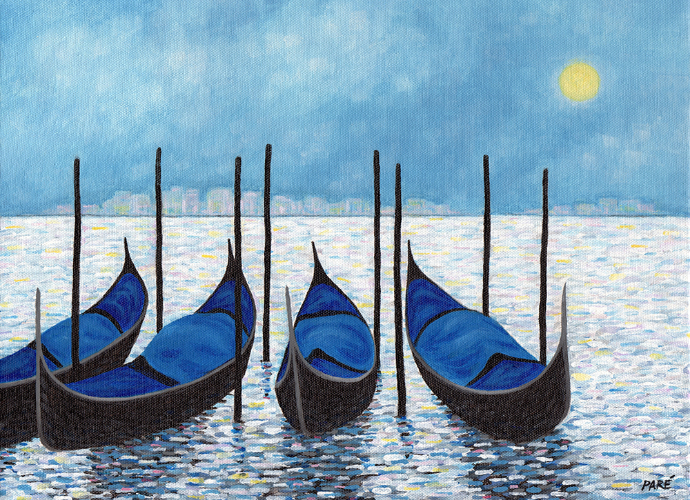 Gondolas11x14 Acrylic Version No.2