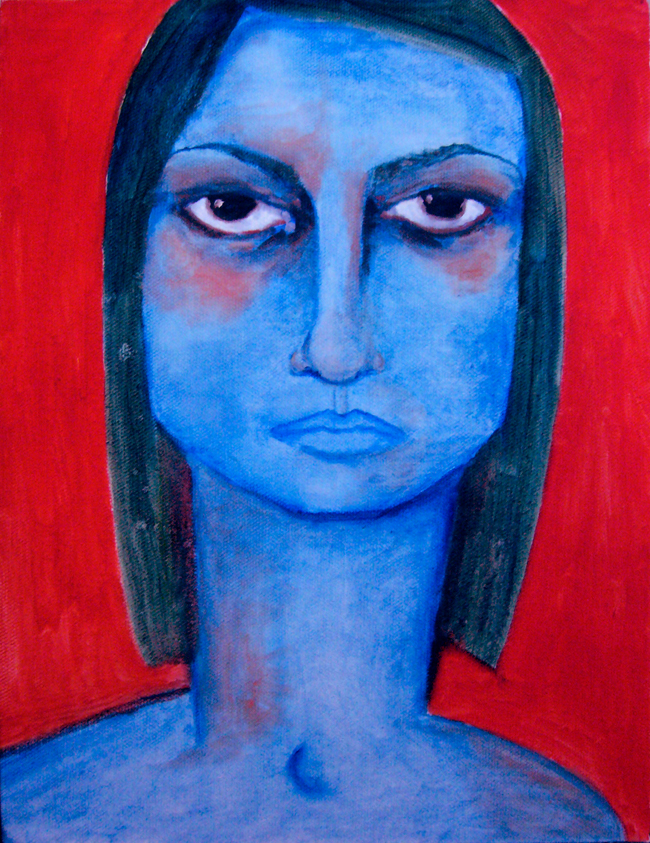 Self Portrait Blue - oil