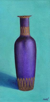 """""""Violet Vase"""" oil on canvas 6x12"""