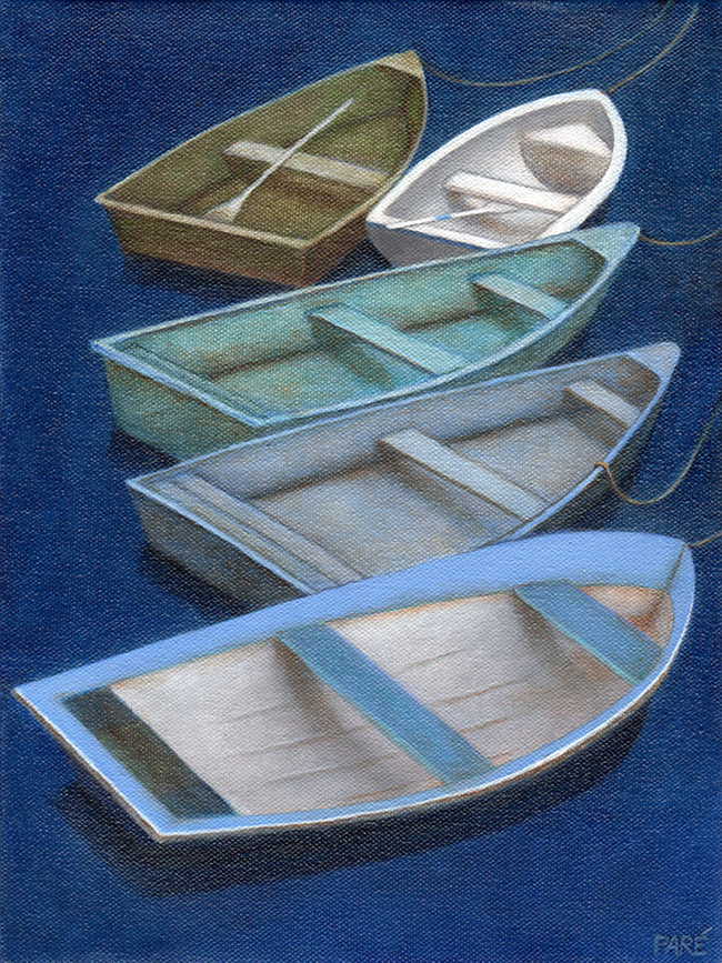 Rowboats No_2 9x12 oil