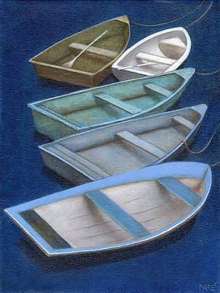 """Rowboats #2""oil on canvas 9x12"