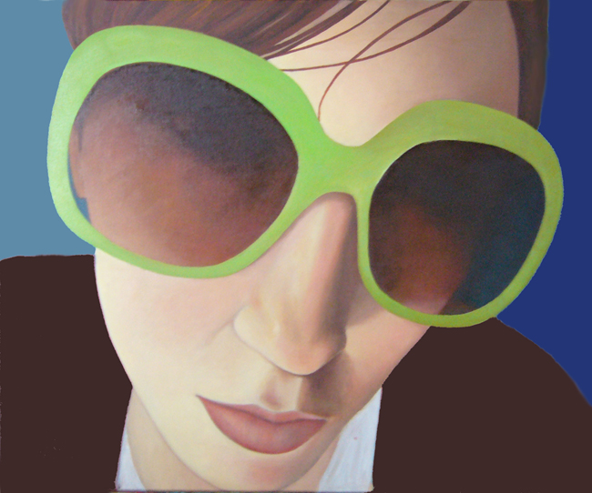 Girl in Green Sunglasses
