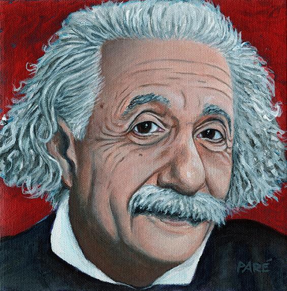 """Albert Einstein acrylic 8x8"""""""