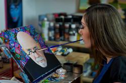Mariam Paré mouth painter