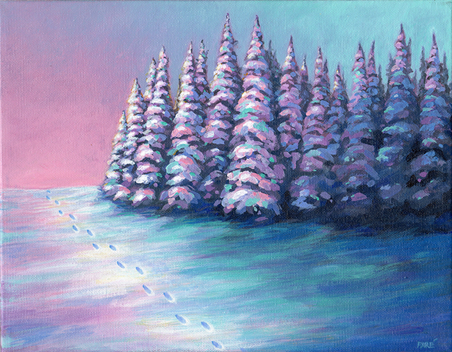 Winter Colors 11x14 oil