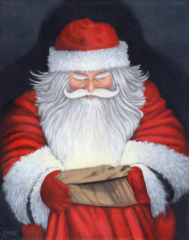 Santa's Magic Bag 11x14 oil