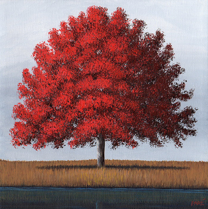Red Tree Landscape