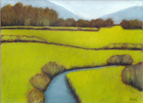 """""""Meadow Brook"""" oil on canvas 6x8"""
